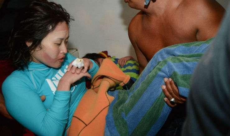 Спасённая женщина-дайвер на Бали