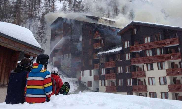 Пожар в отеле Les Jardins de la Balme