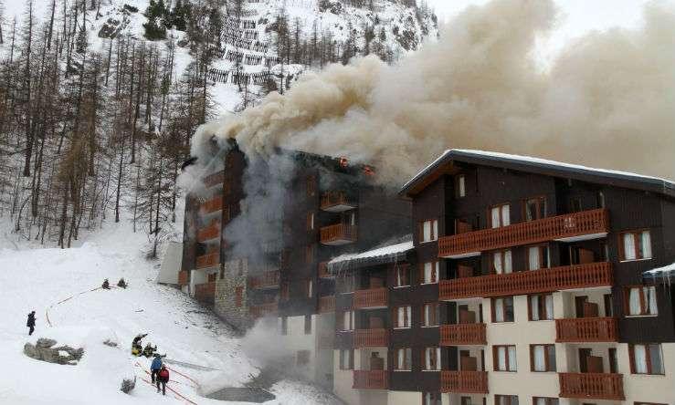 Во Франции сгорел горнолыжный отель