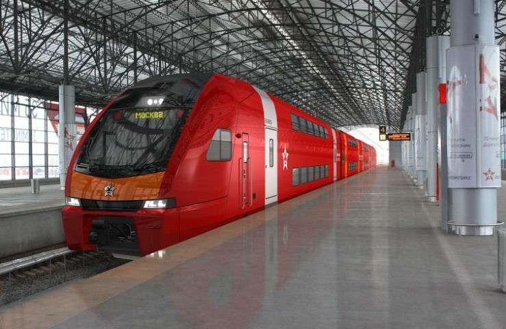 Вид российского варианта поезда Stadler KISS