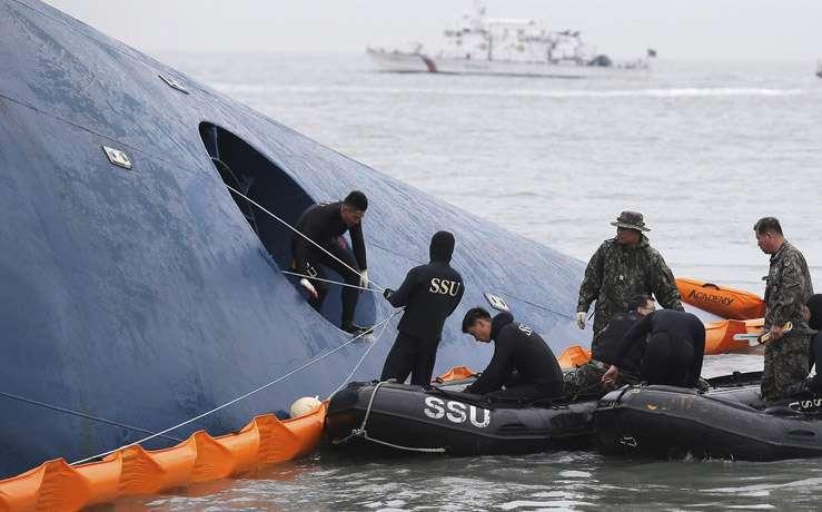 Затонувший паром Sewal в Южной Корее